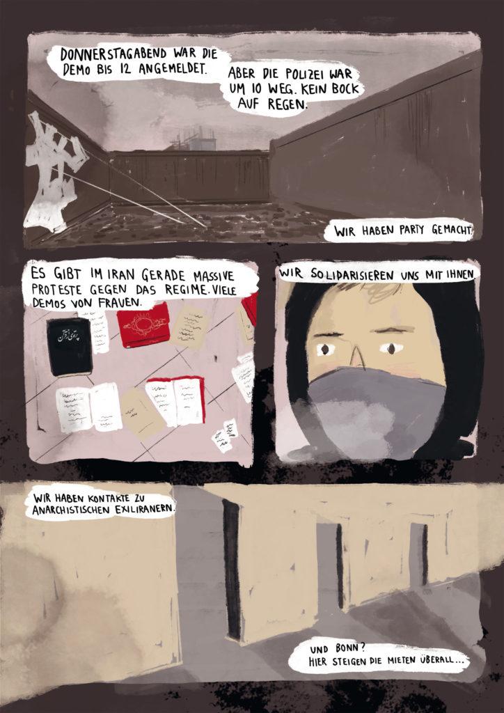 Comic Hausbesetzung